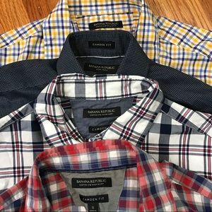 Lot of 4 banana republic Camden fit Shirts Small